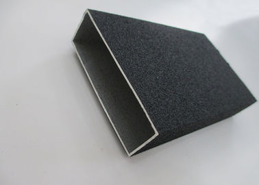 6063 T5 Extruded Aluminum Rectangular Tubing Sand Blasting 0.5 - 2.0 mm Thickness